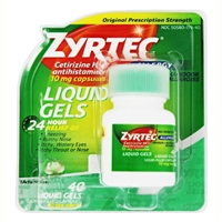 Zyrtec Allergy 24HR Indoor & Outdoor Allergies 40 Liquid Gels