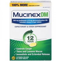 Mucinex DM 12HR Expectorant & Cough Suppressant 40 Tablets