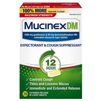 Mucinex DM 12 Hour Expectorant & Cough Suppressant 28 Bi-Layer Tablets
