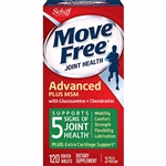 Schiff Move Free Joint Health Advanced Plus MSM With Glucosamine + Chondroitin 120 Coated Tablets