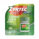 Zyrtec Allergy 24 Hour Relief Indoor & Outdoor Allergies 25 Liquid Gels