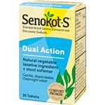 Senokot Dual Action Laxative & Stool Softener 30 Tablets