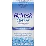 Refresh Optive Lubricant Eye Drops Long-Lasting Hydration 0.5oz / 15ml