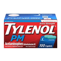 Tylenol PM Extra Strength Pain Reliever Nighttime Sleep Aid 100 Caplets
