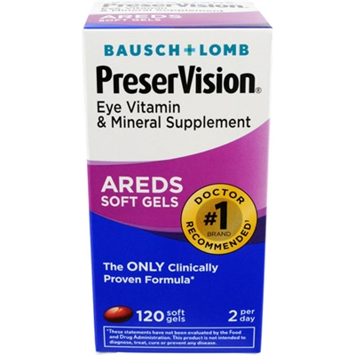 Bausch + Lomb PreserVision Areds Soft Gels 120 Softgels