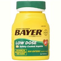 Bayer Aspirin Regimen Low Dose 300 Enteric Coated Tablets