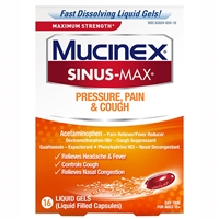 Mucinex Sinus-Max Pressure, Pain, & Cough 16 Liquid Gels