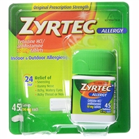 Zyrtec Allergy Indoor & Outdoor Relief 24HR 45 Tablets
