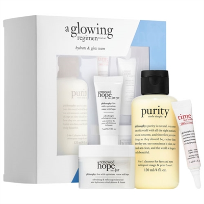 Philosophy A Glowing Regimen Trial 4 Piece Set