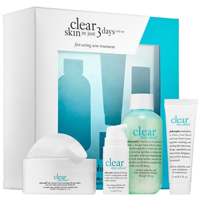 Philosophy Clear Skin In Just 3 Days Trial 4 Piece Set