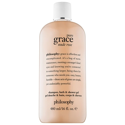 Philosophy Pure Grace Nude Rose Shampoo, Bath, & Shower Gel 16oz / 480ml