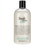 Philosophy Fresh Cream & Mint Shampoo, Shower Gel, Bubble Bath 16oz / 480ml
