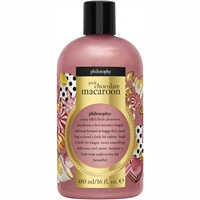 Philosophy Pink Chocolate Macaroon Shampoo, Shower Gel & Bubble Bath 16oz / 480ml