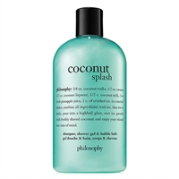 Philosophy Coconut Splash Shampoo, Shower Gel, & Bubble Bath 16oz / 480ml