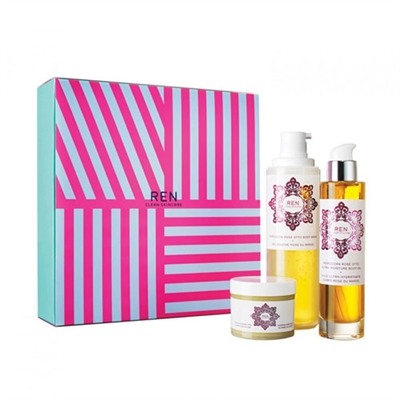 Ren Clean Skincare Luxury Moroccan Rose 3 Piece Set