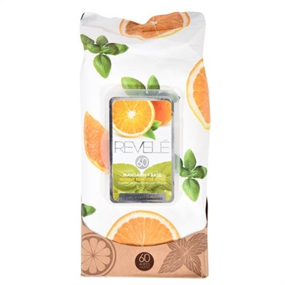 Revele Mandarin & Basil Makeup Remover Wipes 60 Sheets
