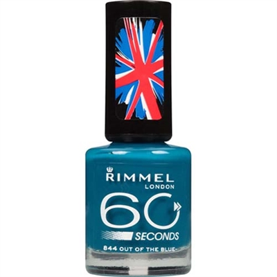 Rimmel London 60 Seconds Nail Polish 844 Out Of The Blue 0.27oz / 8oz