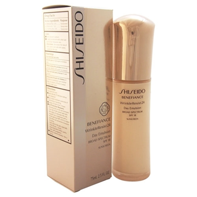 Shiseido Benefiance Wrinkle Resist 24 Day Emulsion SPF 18 2.5 oz / 75ml