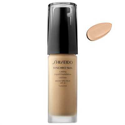 Shiseido Synchro Skin Lasting Liquid Foundation SPF20 Neutral 1 1oz / 30ml