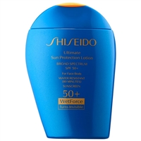 Shiseido Ultimate Sun Protection Lotion Wetforce Turns Invisible SPF 50+  3.3oz / 100ml