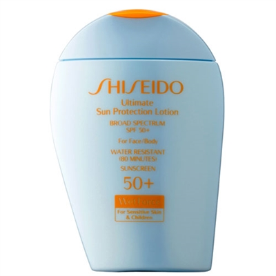 Shiseido Ultimate Sun Protection Lotion Wetforce For Sensitive Skin & Children SPF 50+ 3.3oz / 100ml