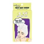 Spa Savvy Microfiber Twist Hair Turban 1 Piece (Colors May Vary)