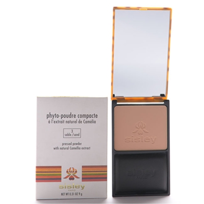Sisley Phyto Poudre Compacte Pressed Powder With Natural Camellia Extract 3 Sand 0.31 oz