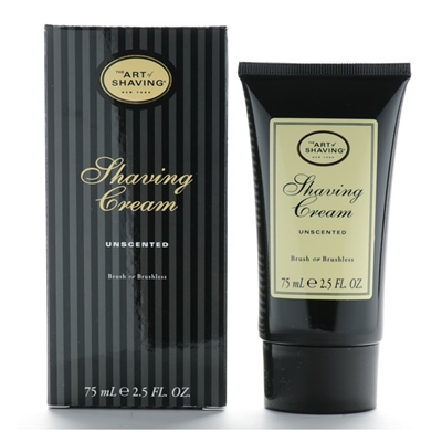 The Art Of Shaving Shaving Cream Unscented Brush or Brushless 2.5oz / 75ml