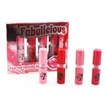 W7 Fabulicious Four Fab Lipsticks 4 Piece Set