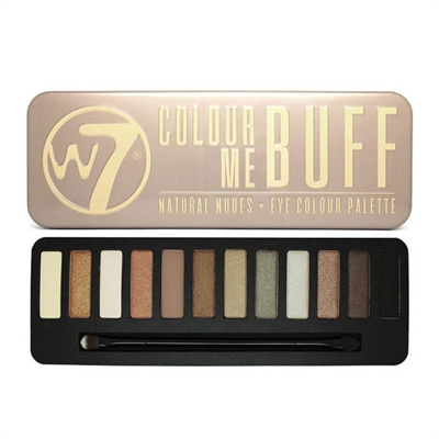W7 Colour Me Buff: Natural Nudes Eye Colour Palette 0.551oz / 15.6g