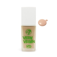 W7 Very Vegan HD Foundation Natural Beige 1.12oz / 32ml