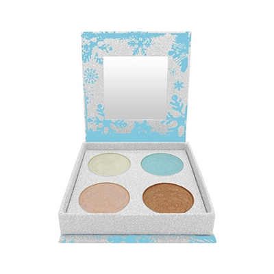 W7 Frosted Festive Ice Shimmers Eye Shadow Palette 0.35oz / 10g