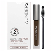 Wunder2 WunderBrow 1-Step Brow Gel Black/Brown 0.105oz / 3g