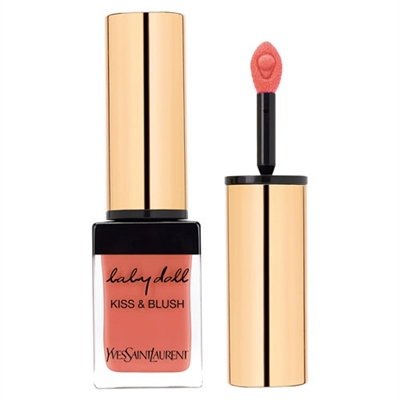 Yves Saint Laurent Kiss & Blush Lips & Cheeks Colour 07 Corail Affranchi 0.33oz / 10ml