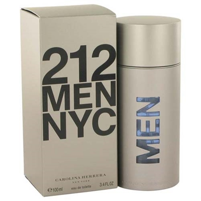212 by Carolina Herrera for Men 3.4 oz Eau De Toilette Spray