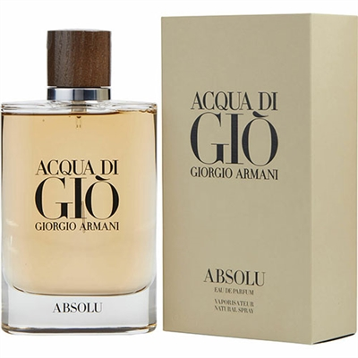 Acqua Di Gio Absolu by Giorgio Armani for Men 2.5oz Eau De Parfum Spray