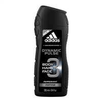 Adidas Dynamic Pulse Peppermint Hair & Body Shower Gel for Men 8.4oz