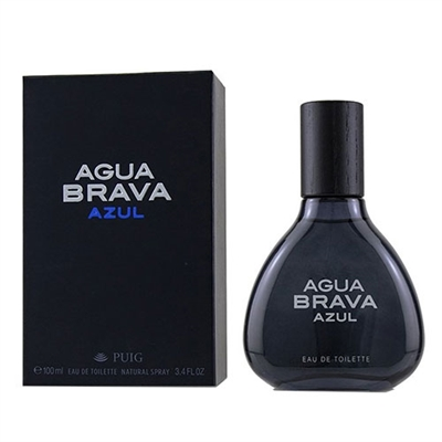 Agua Brava Azul by Antonio Puig for Men 3.4oz Eau De Toilette Spray