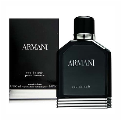 Armani Eau De Nuit by Giorgio Armani for Men 3.4 oz Eau De Toilette Spray