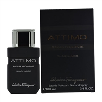 Attimo Black Musk Pour Homme by Salvatore Ferragamo for Men 3.4oz Eau De Toilette Spray