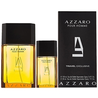 Azzaro by Loris Azzaro for Men Travel Exclusive 2 Piece Set