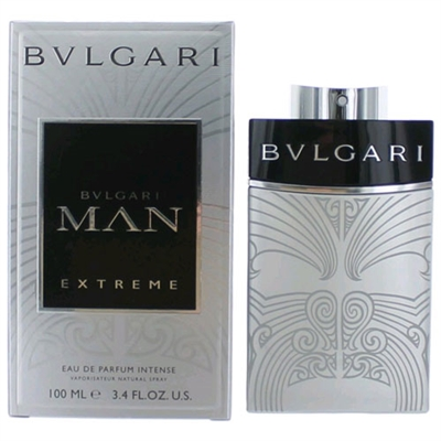 Bvlgari Man Extreme by Bvlgari for Men 3.4oz Eau De Parfum Intense Spray