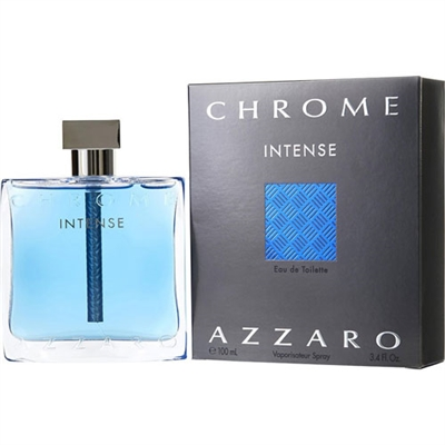 Chrome Intense by Loris Azzaro for Men 3.4oz Eau De Toilette Spray
