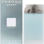 Chrome Sport by Loris Azzaro for Men 3.4 oz Eau De Toilette Spray