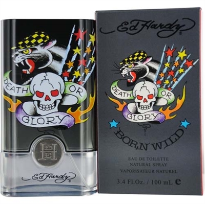 Ed Hardy Born Wild by Christian Audigier for Men 3.4 oz Eau De Toilette Spray