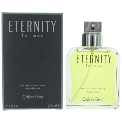 Eternity by Calvin Klein for Men 6.7 oz Eau De Toilette Spray
