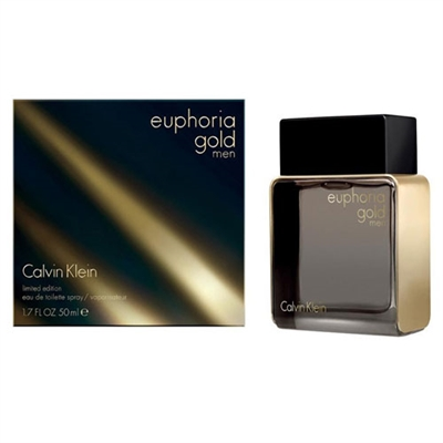 Euphoria Gold Limited Edition by Calvin Klein for Men 1.7oz Eau De Toilette Spray
