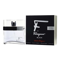 F Black by Salvatore Ferragamo for Men 3.4 oz Eau De Toilette Spray