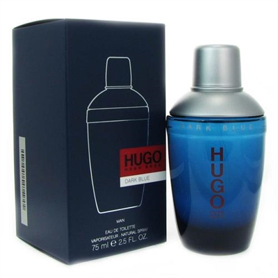 Hugo Dark Blue by Hugo Boss for Men 2.5 oz Eau De Toilette Spray