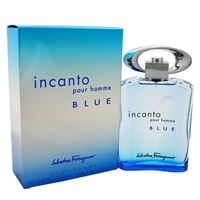 Incanto Blue by Salvatore Ferragamo for Men 3.4oz Eau De Toilette Spray